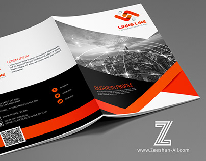 Business Profile Cover Design for LinksLine Company