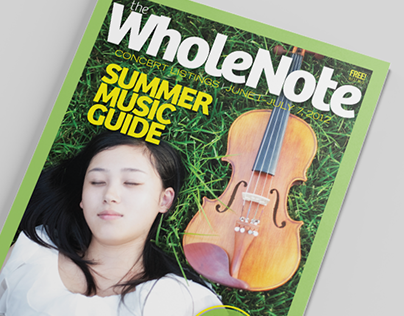 WholeNote Magazine redesign
