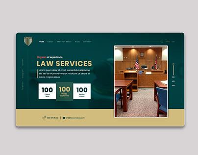 Law Services simple ui Design