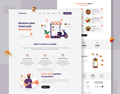 Food Delivery Landing Page Design