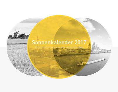 Sonnenkalender 2017 / Calendar Design & Concept