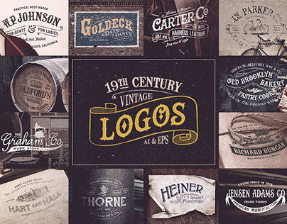19th Century Vintage Logos