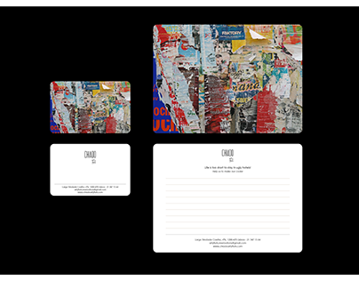 Chiado Arty Flats Website and Stationery