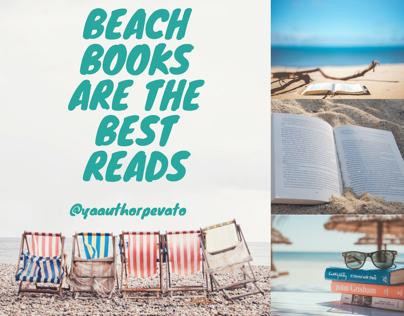 Summer beach reads Instagram post