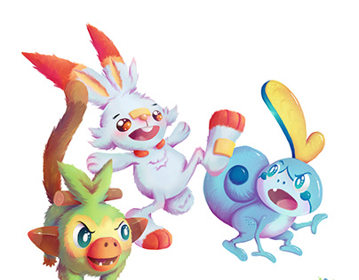 Pokemon Gen 8 Starters.