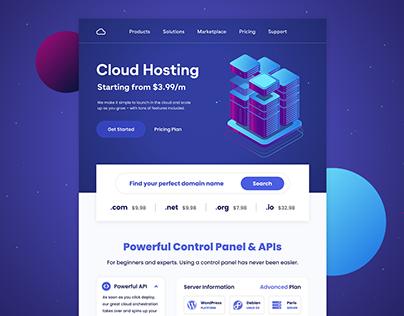 Cloud Hosting - Web Design / Landing Page