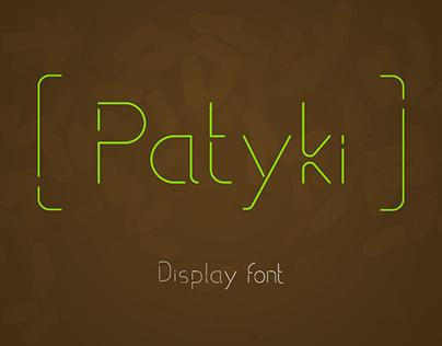 Patyki - display font