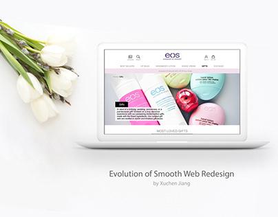 EOS Lip balm Website Redesign - UX design