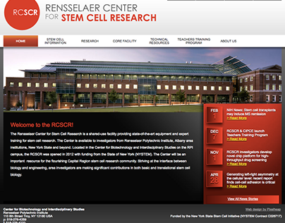 RPI - Rensselaer Center for Stem Cell Research
