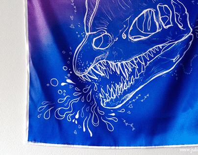 Dinosaur wall tapestries