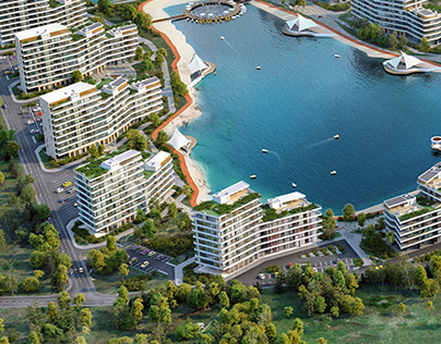 Commercial visualization of residential complex