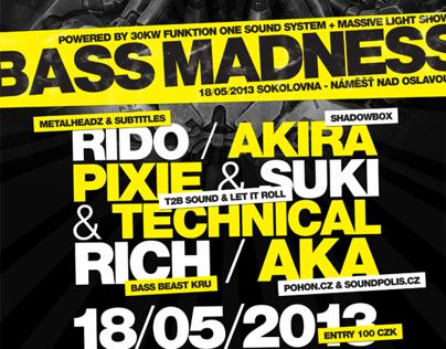 Bass Madness Flyer