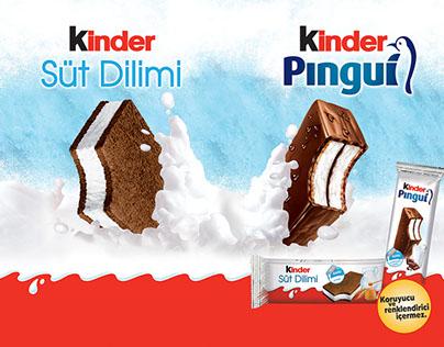 Kinder Süt Dilimi ve Pingui Çalışmaları