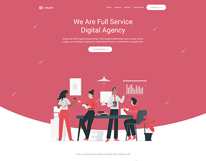 Landing Page Design (inspired from themeforest)
