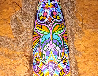 African Mask Psychedelic Butterfly