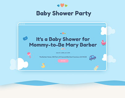 Landing Page Baby Shower Party