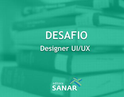 Desafio Designer UI/UX - Editora Sanar