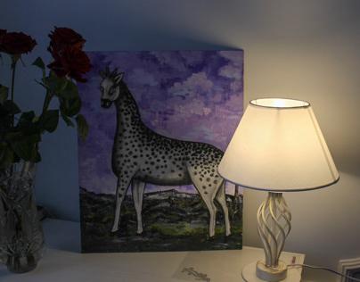 Репродукция картины Нико Пиросмани «Жираф»