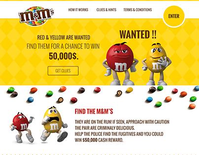 M&M's Website UI /UX Design [Concept ]