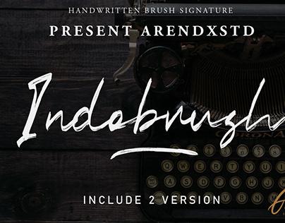 IndoBrush - Handwritten Brush Signature Font