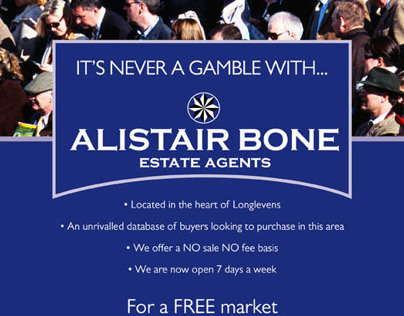 Alistair Bone Estate Agents Race Week Campaign