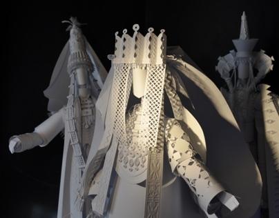 Wedding gear paper sculptures