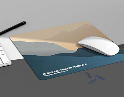 Mouse Pad Mockup Pack - Smart Object Psd Templates