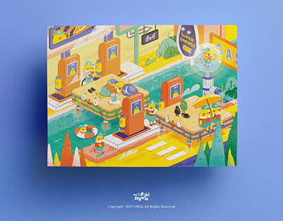 Food gift box illustration design 康师傅礼盒插画