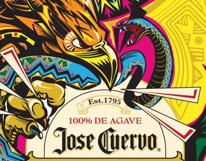 GRITO de COLORES-JOSE CUERVO Pantone Bottle