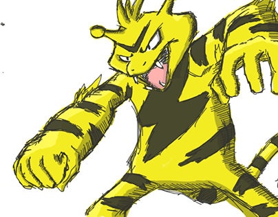 Electabuzz sketch (now with color!)