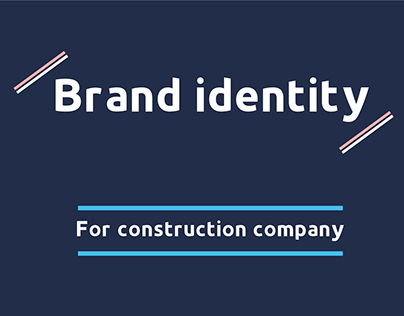 Brand identity for a construction company (Arab union)