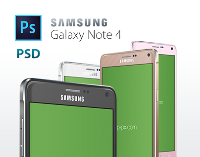 Galaxy Note 4 Vector PSD Template