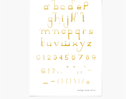The Burlington Toaster Font