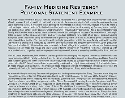 Ammco bus : Family medicine residency application personal