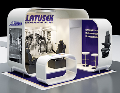 3D Concept Design - Exhibition booth for Latusek