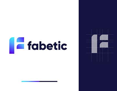 F Modern Geometric Logo Design For Sale - Logos