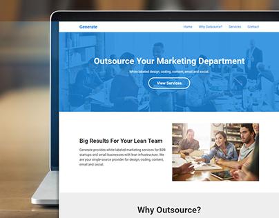 Generate Website Redesign