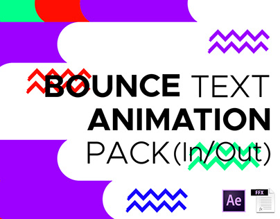 Free After Effects Bounce Text Animation Preset Pack-V1