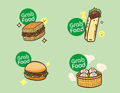 GrabFood Indonesia GIF Stickers Set