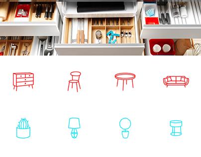 Iconografía muebles y decoración