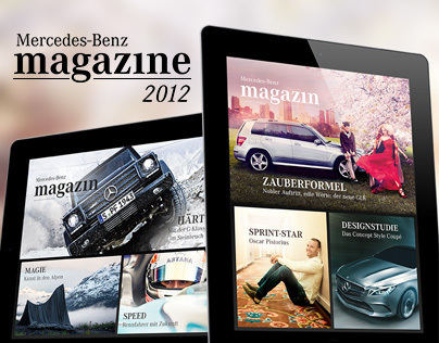 Mercedes-Benz iPad Magazine