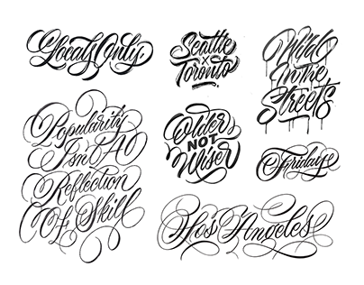 2019 Lettering Collection