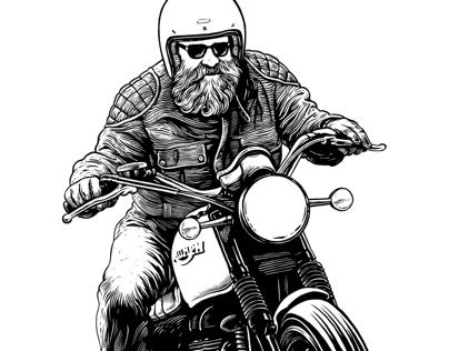Bike exif woodcut
