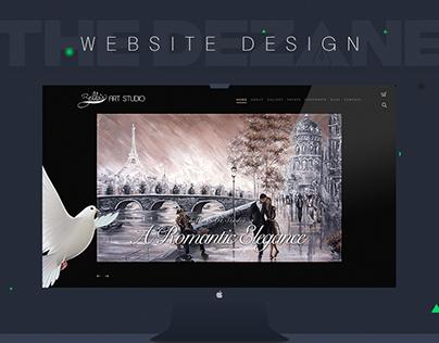 Bella Art Studio Website Design
