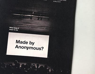 Anonymous Zine
