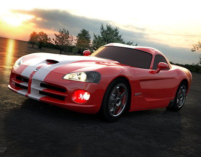 Dodge Viper - car rendering