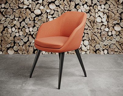 Charlie Pommier - S chair 3D CGI furniture