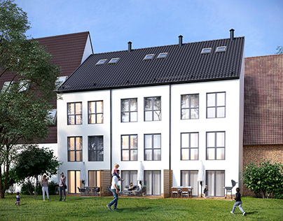Visualization of a townhouse in Germany