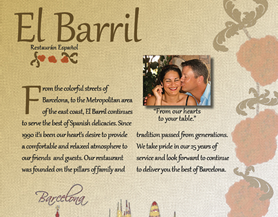 El Barril Restaurant - Menu