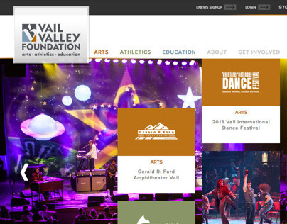 Vail Valley Foundation Front-End Build
